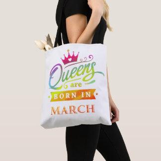 Bolsa Tote O Queens é em março presente de aniversário