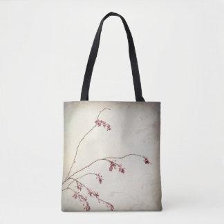 Bolsa Tote O ramo de árvore da ameixa com primavera brota  