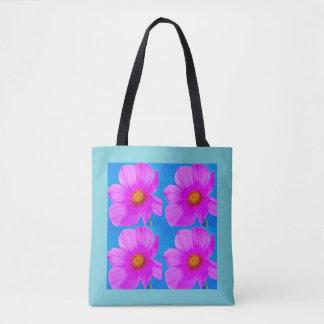Bolsa Tote O rosa floresce sacola