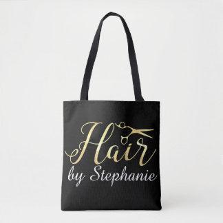 Bolsa Tote O roteiro dourado Scissors o cabeleireiro do
