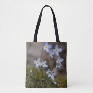 Bolsa Tote O roxo pequeno de Bluets floresce a sacola do