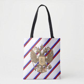 Bolsa Tote O russo listra a bandeira