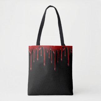 Bolsa Tote O sangue de Falln goteja o preto