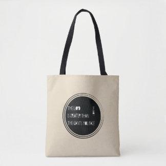 Bolsa Tote O senhor é maior do que…