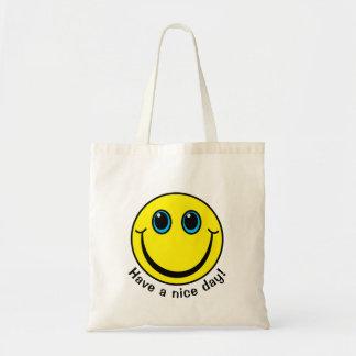 Bolsa Tote O smiley face tem um dia agradável