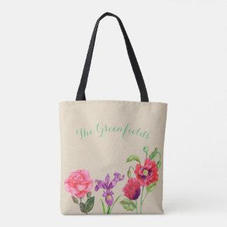 Bolsa Tote O verão feito sob encomenda floresce a sacola