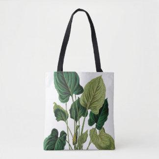 Bolsa Tote O verde tropical do Philodendron deixa o saco