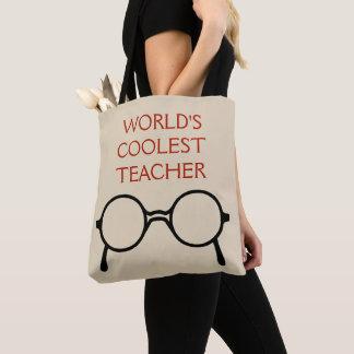 Bolsa Tote O vermelho o mais fresco da sacola do professor do