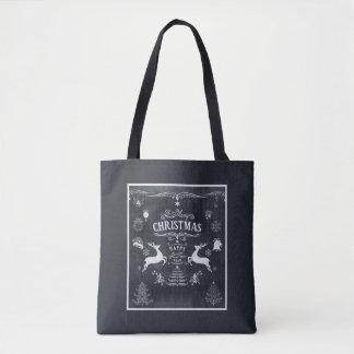 Bolsa Tote O vintage magnífico deseja a sacola do Natal