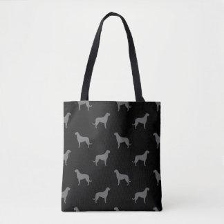 Bolsa Tote O Wolfhound irlandês mostra em silhueta o teste