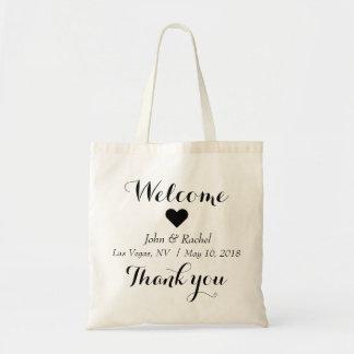 Bolsa Tote Obrigado bem-vindo você saco do casamento simples
