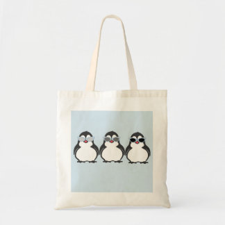 Bolsa Tote Óculos de sol das objectivas triplas do pinguim