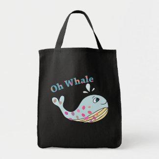 Bolsa Tote Oh arte engraçada animal bonito da tipografia das