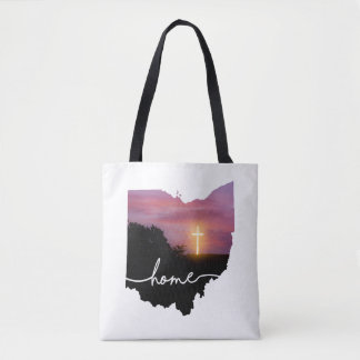 Bolsa Tote Ohio é casa…. Cruz do por do sol