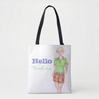 Bolsa Tote Olá! sacola da forma