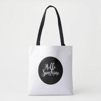 Bolsa Tote Olá! sacola da luz do sol