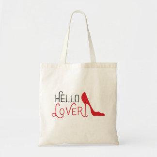 Bolsa Tote Olá! sacola do amante, estilete do salto alto
