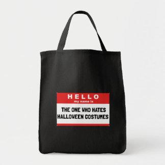 Bolsa Tote Olá! trajes do Dia das Bruxas do ódio do nome