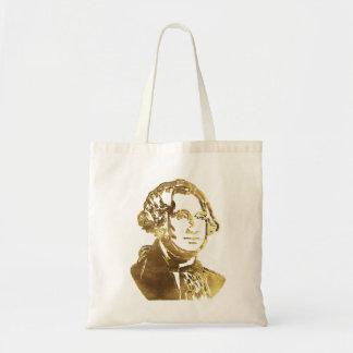 Bolsa Tote Olhar do ouro do retrato de George Washington
