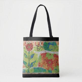 Bolsa Tote Olhe para fora o jardim do mundo