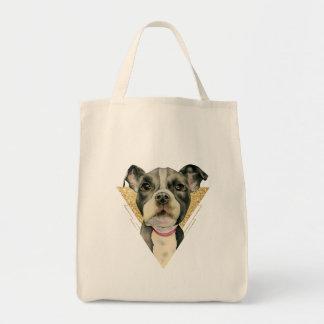 Bolsa Tote Olhos 3 do filhote de cachorro