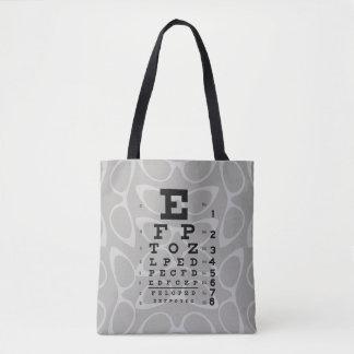 Bolsa Tote Olhos de gato retros da carta de olho da