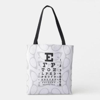 Bolsa Tote Olhos de gato retros da carta de olho do pop art