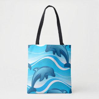 Bolsa Tote Ondas de salto do golfinho