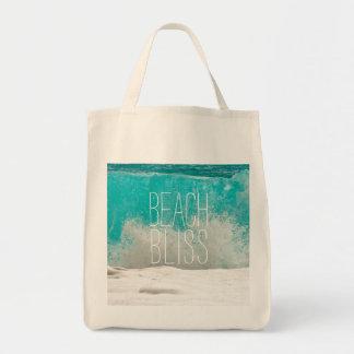 Bolsa Tote Ondas deixando de funcionar do oceano esmeralda -