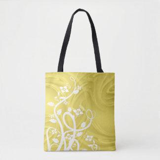 Bolsa Tote Ondas sobre trabalhos de arte amarelos