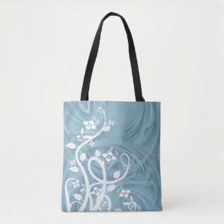 Bolsa Tote Ondas sobre trabalhos de arte azuis