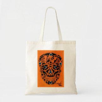 Bolsa Tote Orange Skull