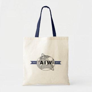 Bolsa Tote Orçamento do logotipo do aniversário de AIW 25o