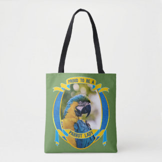 Bolsa Tote Orgulhoso ser uma senhora Macaw Animal de