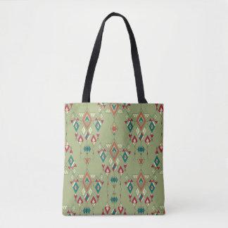 Bolsa Tote Ornamento asteca tribal étnico do vintage
