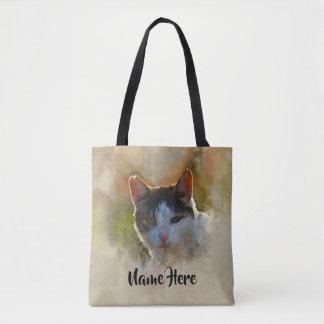 Bolsa Tote Os amantes do gato personalizaram a sacola da
