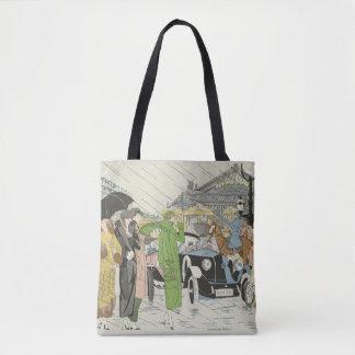 Bolsa Tote os anos 30 formam, cena da rua