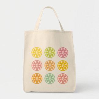Bolsa Tote Os citrinos cortam a sacola do mantimento