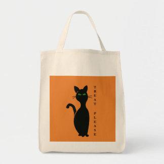Bolsa Tote Os deleites satisfazem o gato