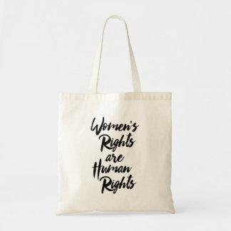 Bolsa Tote Os direitos das mulheres são direitos humanos