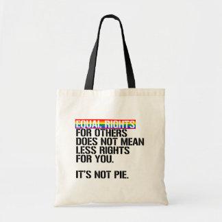 Bolsa Tote Os direitos iguais para outro não significam menos