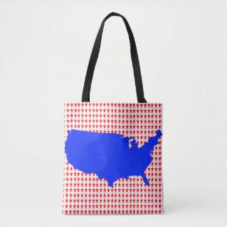 Bolsa Tote Os Estados Unidos da América brancos e azuis