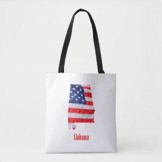 Bolsa Tote Os Estados Unidos de Alabama da bandeira americana