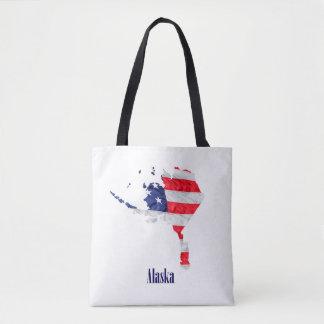 Bolsa Tote Os Estados Unidos de Alaska da bandeira americana