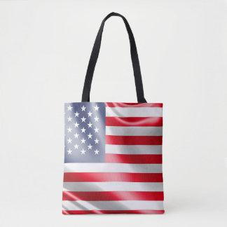 Bolsa Tote Os EUA embandeiram para toda sobre - imprima a