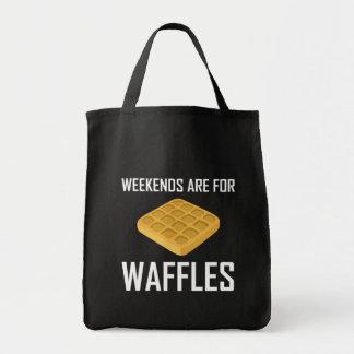 Bolsa Tote Os fins de semana são para Waffles