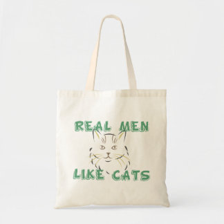 Bolsa Tote Os homens reais gostam de gatos - saco