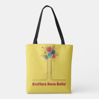 Bolsa Tote Os Knitters têm o saco de confecção de malhas