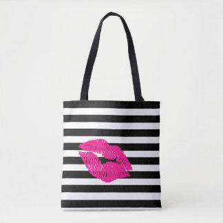 Bolsa Tote Os lábios, lábios do rosa quente, picam os lábios,
