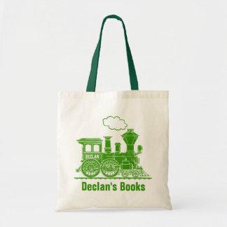 Bolsa Tote Os miúdos verdes do trem nomearam a sacola da